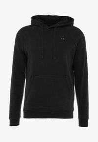 Under Armour - RIVAL HOODY - Hoodie - black/black - 4