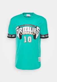 Mitchell & Ness - NBA VANCOUVER GRIZZLIES MIKE BIBBY NAME NUMBER CREWNECK - Article de supporter - teal - 5