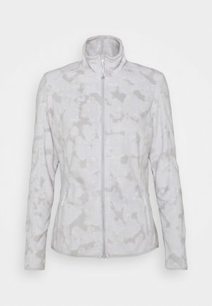 PRINT - Fleece jacket - light grey