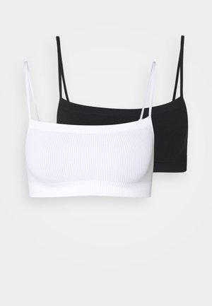 SEAMFREE STRAIGHT NECK CROP 2 PACK - Top - black/white