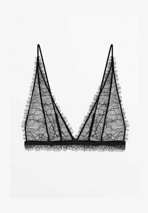 MIT SPITZENKANTE  - Triangle bra - black