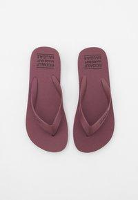 Ecoalf - ALGAM KIDS UNISEX - Pool shoes - wine - 3