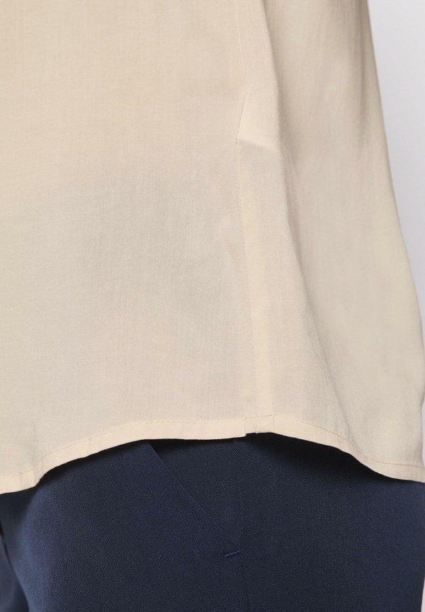TOM TAILOR BLUSEN & SHIRTS BLUSENSHIRT MIT MAO-KRAGEN - Koszula - soft vanilla/jasnożÓłty SFGT