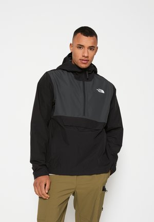 MEN'S WATERPROOF FANORAK - Windbreaker - black