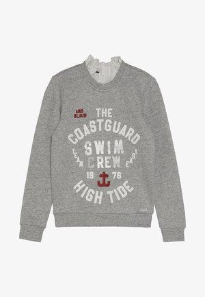 WITH CUTE COLLAR AND ZIP AT BACK - Sweatshirt - grey melange