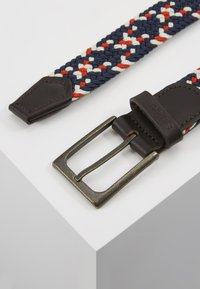 Barbour - FORD BELT - Pásek - red/navy/ecru - 1