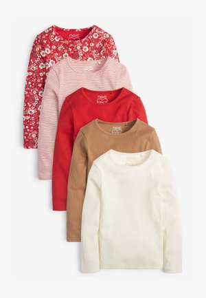 5 PACK - Long sleeved top - red