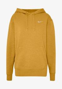 Nike Sportswear - W NSW HOODIE FLC TREND - Bluza z kapturem - yellow - 4