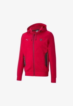 FERRARI STYLE - Sweater met rits - rosso corsa