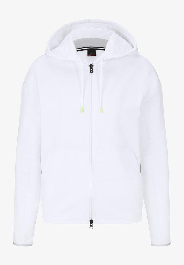 ERLA - Zip-up sweatshirt - weiß