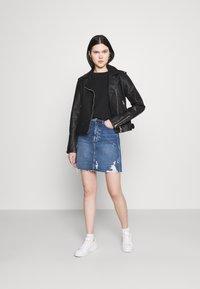 Even&Odd - Mini skirt -  light blue denim - 1