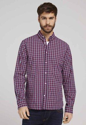 BLUSEN  - Shirt - red navy white small check