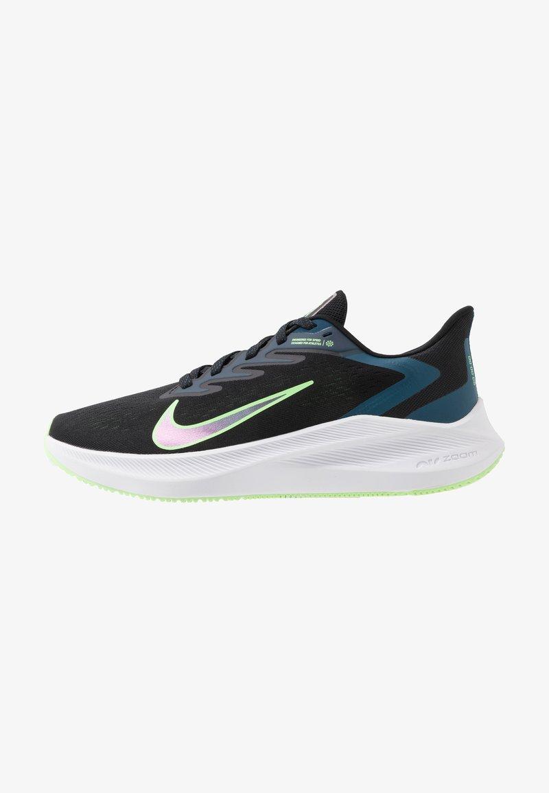Nike Performance - ZOOM WINFLO  - Zapatillas de running neutras - black/vapor green/valerian blue
