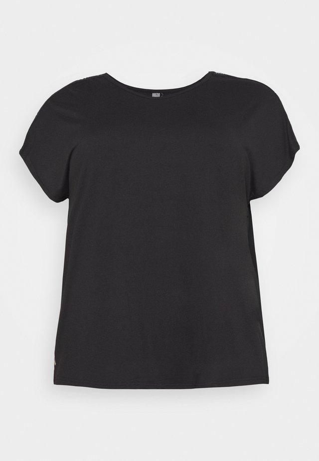 ONPADREY LOOSE TRAINING TEE - T-shirts basic - black/white