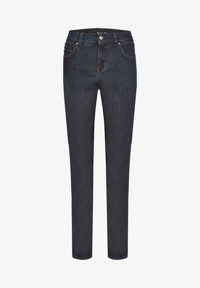 CICI' MIT DEZENTER WASCHUNG - Straight leg jeans - dark-blue denim