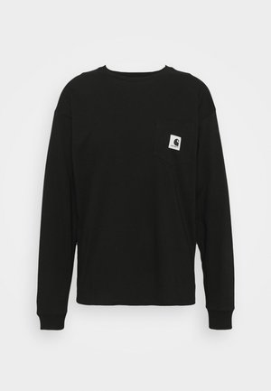 POCKET - Pitkähihainen paita - black