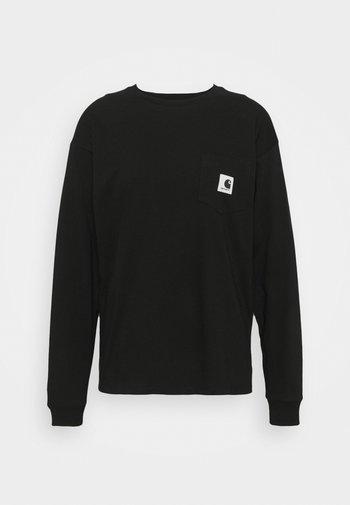 POCKET - Long sleeved top - black