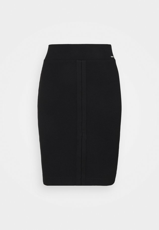 TULAY SKIRT - Falda de tubo - jet black