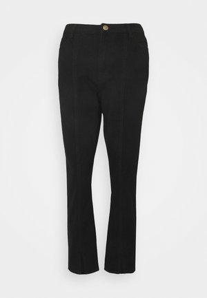 WRATH SPLIT FRONT HEM - Jeans straight leg - black