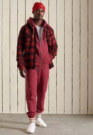 VINTAGE LOGO EMBROIDERED - Vetoketjullinen college - rich red marl