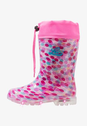 POWER BLINKY - Wellies - pink/rosa/türkis
