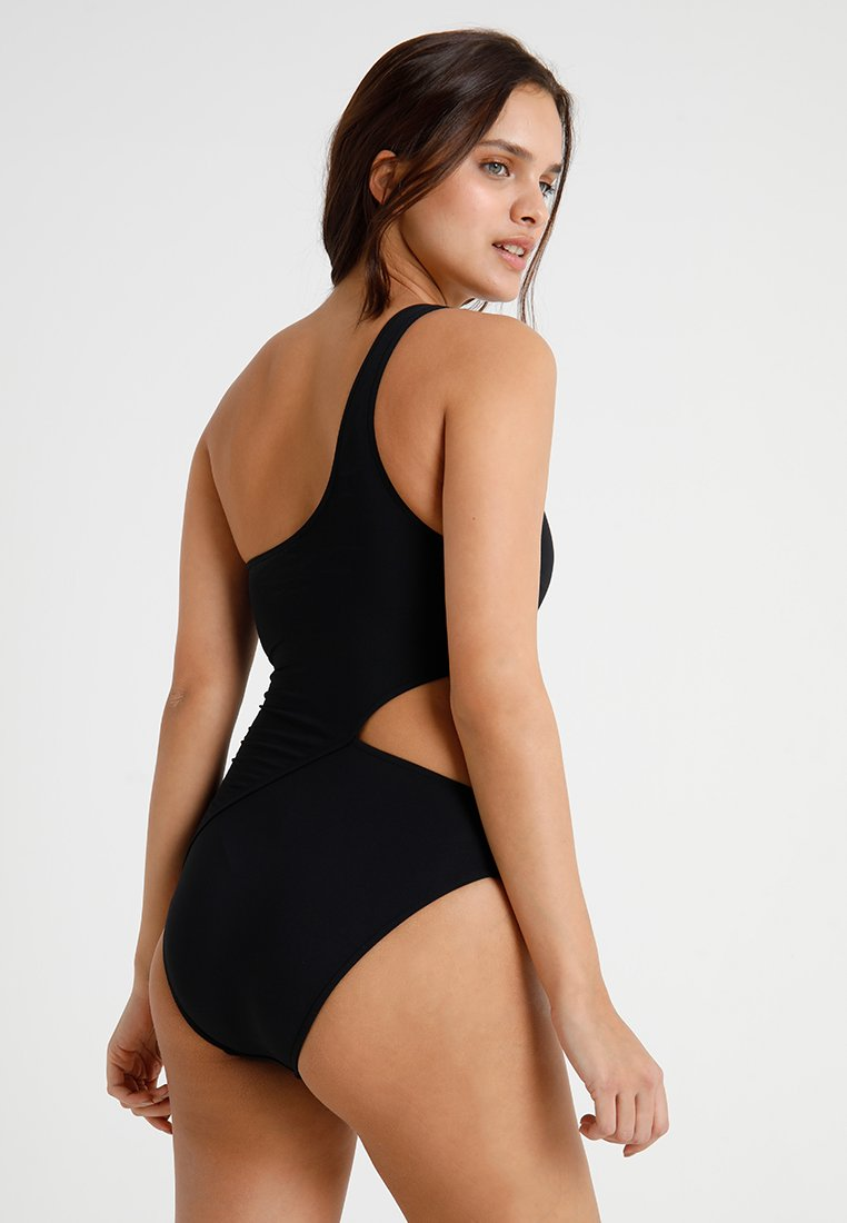 Seafolly ACTIVE ONE SHOULDER MAILLOT - Badeanzug - black/schwarz BAC7yE