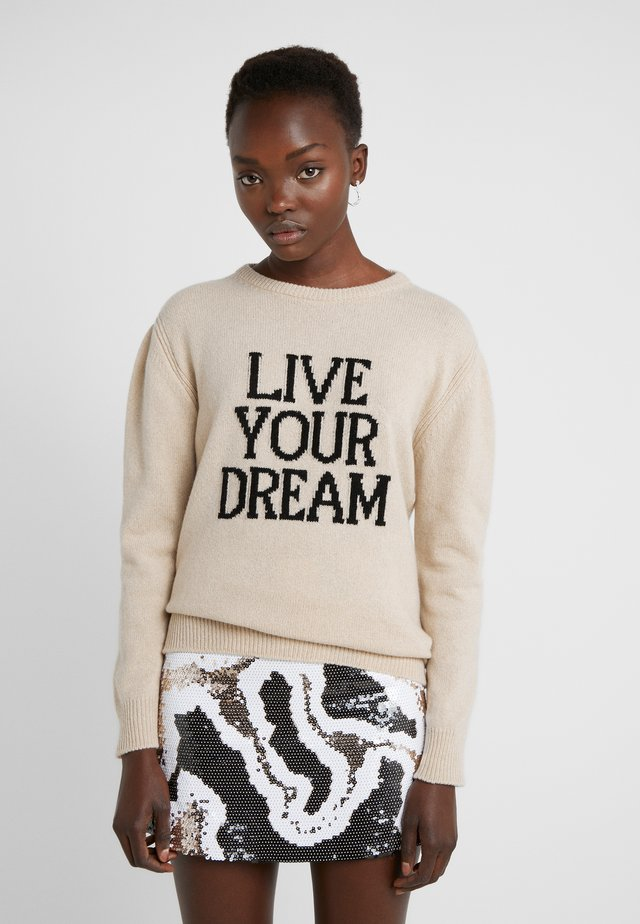 LIVE YOUR DREAM - Maglione - beige