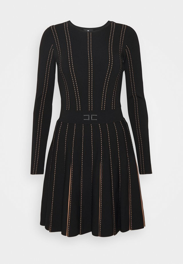 WOMAN'S DRESS - Sukienka letnia - black / pink