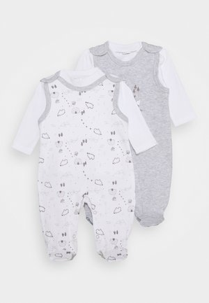 2 PACK - Pyjama - grey/white