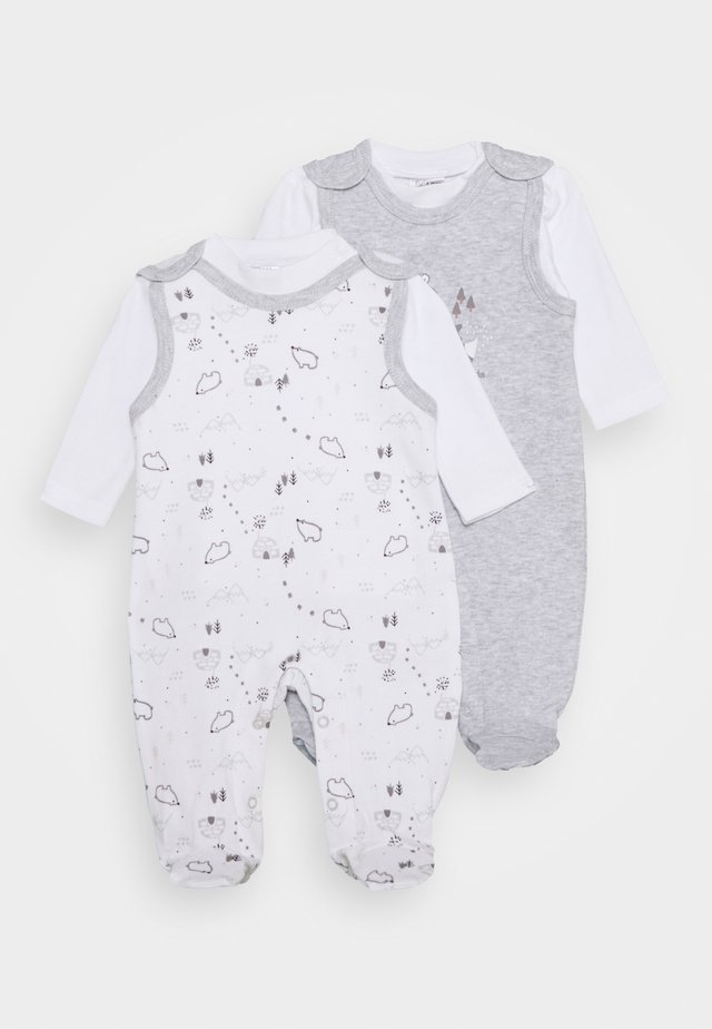 2 PACK - Pyjama - grey/white