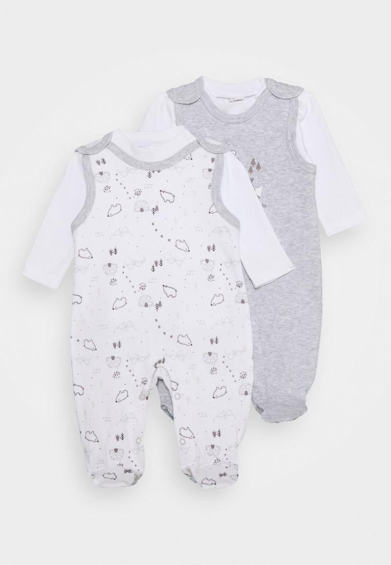 Jacky Baby - 2 PACK - Pyžamová sada - grey/white