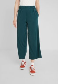 Monki - CILLA FANCY TROUSERS - Bukser - dark green - 0
