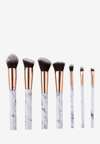 ZOË AYLA - 7 PIECE MAKE UP BRUSH SET - Make-upkwastje - white marble - 0