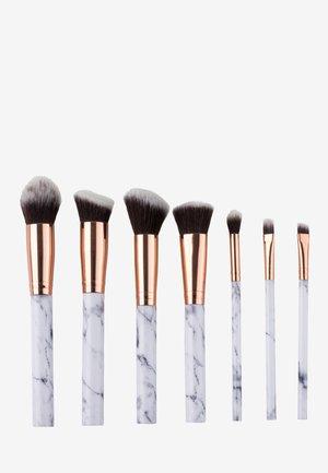 7 PIECE MAKE UP BRUSH SET - Makeup brush - white marble
