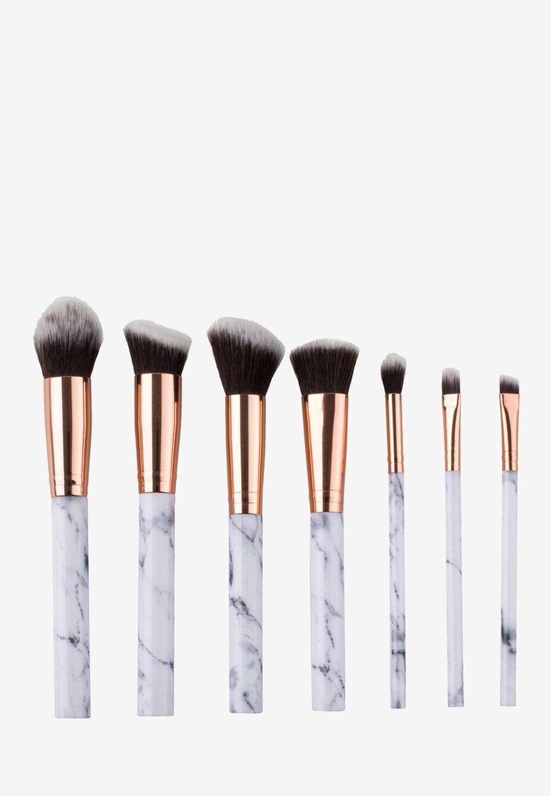 ZOË AYLA - 7 PIECE MAKE UP BRUSH SET - Make-upkwastje - white marble