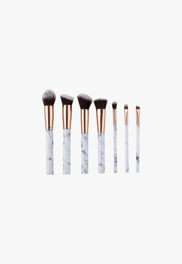 7 PIECE MAKE UP BRUSH SET - Pennelli trucco - white marble