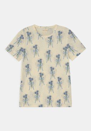 WINTERFLOWERS TEE UNISEX - T-shirt imprimé - off-white