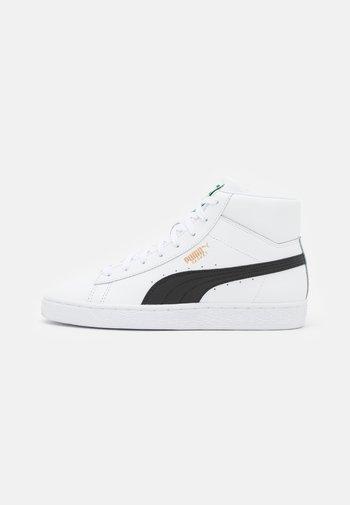 BASKET MID UNISEX - Sneakers alte - white/black