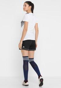 adidas Performance - SQUADRA CLIMALITE FOOTBALL 1/4 SHORTS - Träningsshorts - black/white - 2