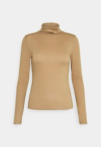 Gina Tricot - GIANNA POLO - Long sleeved top - tigers eye - 0