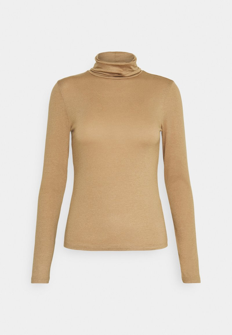 Gina Tricot - GIANNA POLO - Long sleeved top - tigers eye