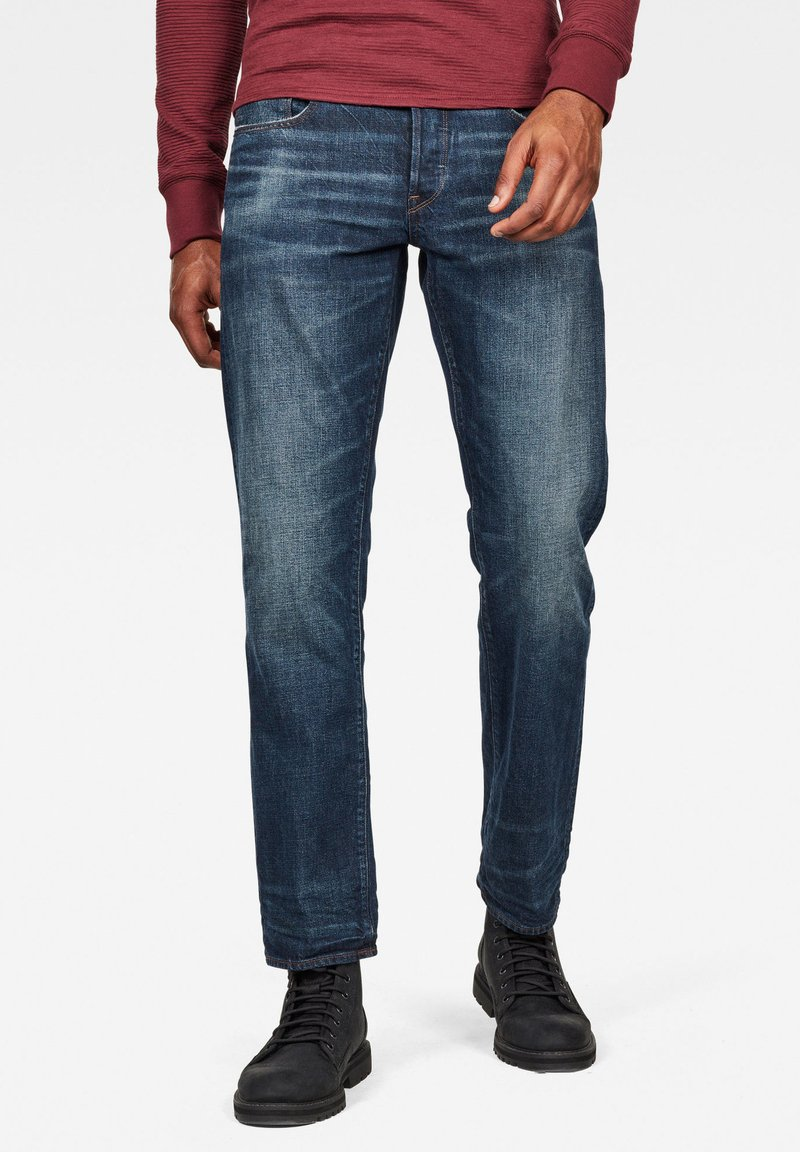 G-Star - 3301 STRAIGHT - Jeans a sigaretta - dk aged
