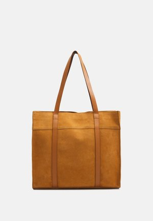 LEATHER - Shopping Bag - curry