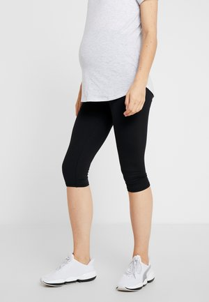 CORE CAPRI OVER BELLY TIGHT - 3/4 sports trousers - black
