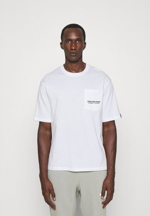 CREWNECK WITH CHEST POCKET - T-shirt print - white