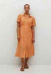 Violeta by Mango - Skjortklänning - orange - 0