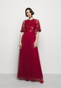 Needle & Thread - SEQUIN RIBBON BODICE MAXI DRESS - Společenské šaty - deep red - 0