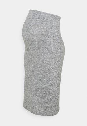 PCMPAM PENCIL SKIRT - Pencil skirt - light grey melange