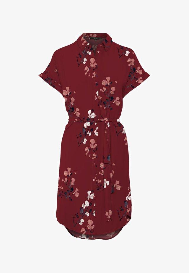Shirt dress - cabernet
