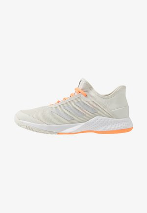 ADIZERO CLUB - All court tennisskor - orbit grey/silver metallic/signal orange